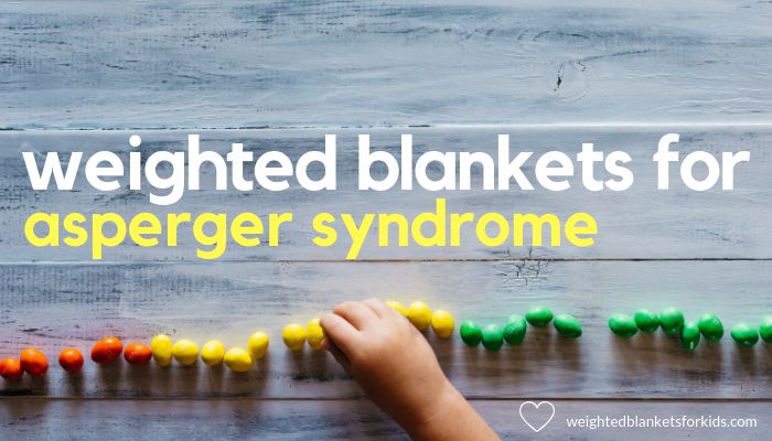 A hand positioning colourful pins overlaid with text 'weighted blankets for aspergers syndrome'. Photo by Patrick Fore on Unsplash.