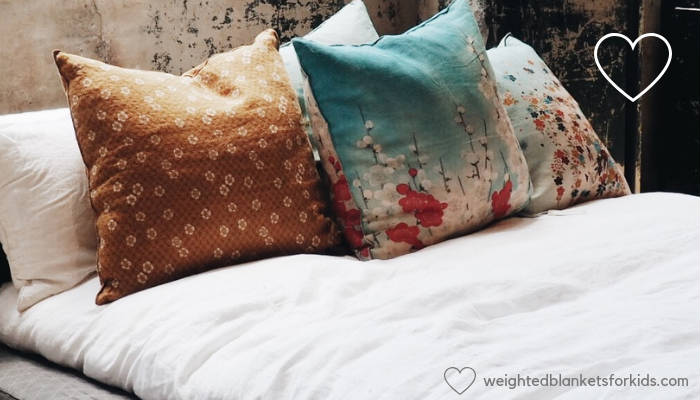 A bed with cushions. Photo by Anna Sullivan on Unsplash.