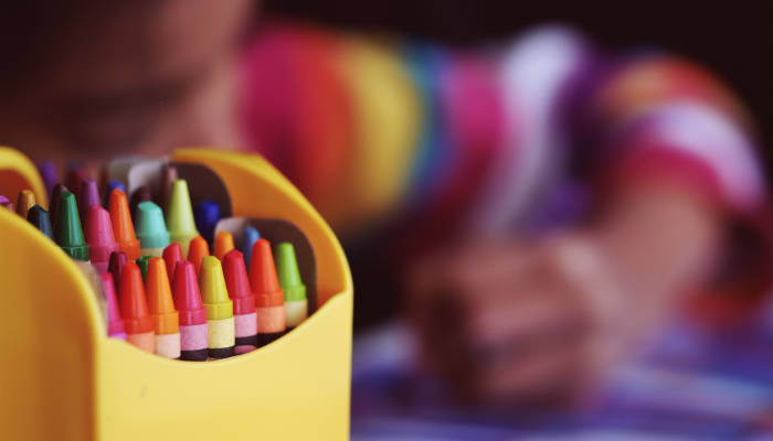 A child drawing. Photo: Jelena Karakaš via Unsplash.
