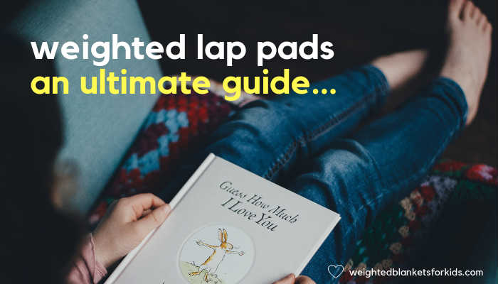 A child reading, overlaid with text reading 'weighted lap pads, an ultimate guide'. Photo by Annie Spratt on Unsplash.
