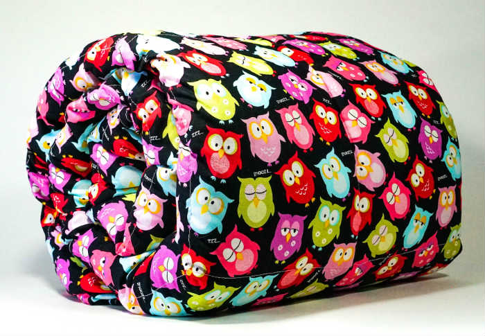 A Mosaic Weighted Blanket For Kids - Cotton Owls Theme.
